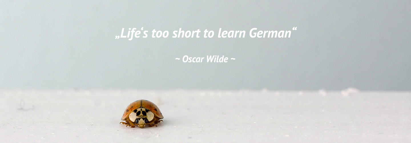 Life's too short to learn German